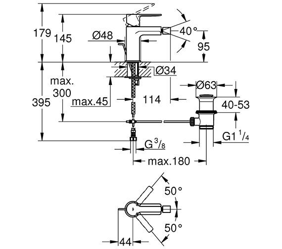 Technical drawing QS-V80657 / 33848001