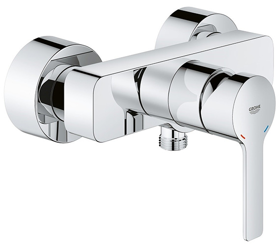 Grohe Lineare Half Inch Single Lever Wall Mounted Chrome Bath Shower Mixer Tap