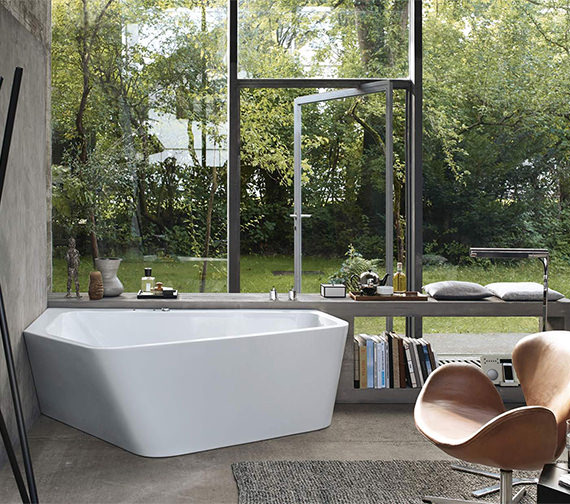 Duravit Paiova 1900mm 5 Corner Left Hand Bath With Panel And Jet System