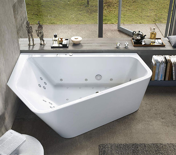 Duravit Paiova 1900mm 5 Corner Left Hand Bath With Panel And Combi System E