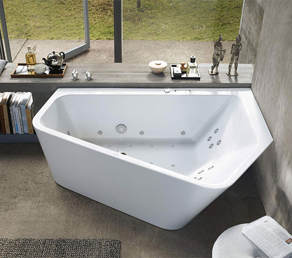 duravit paiova 1900mm 5 corner right built in bath with. Black Bedroom Furniture Sets. Home Design Ideas