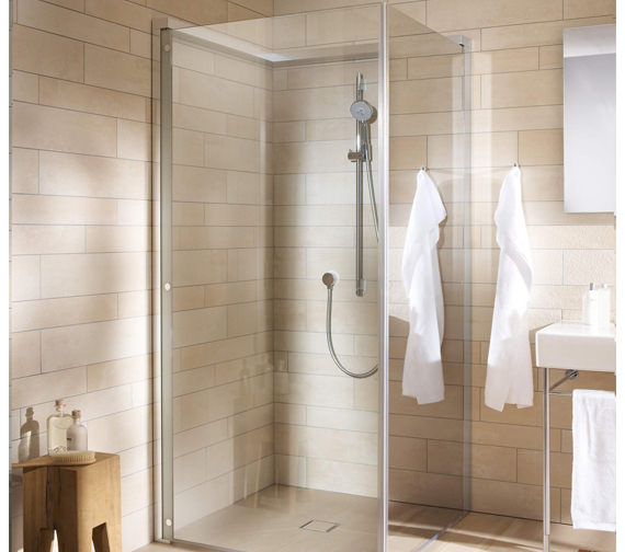 Duravit OpenSpace 785 x 785mm Square Shower Screen For Tap On Left Side