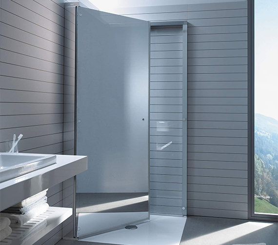 Alternate image of Duravit OpenSpace 985 x 985mm Square Shower Screen For Tap On Left Side