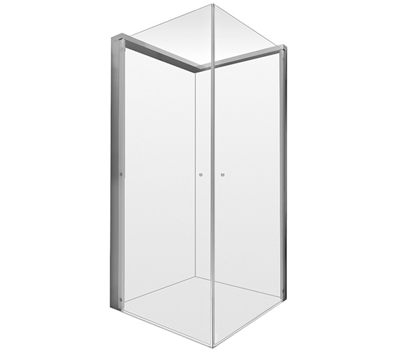 Duravit OpenSpace 885 x 785mm Rectangle Shower Screen For Tap On Left Side