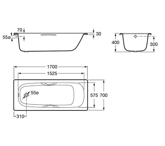 Technical drawing QS-V19237 / 2374M2000
