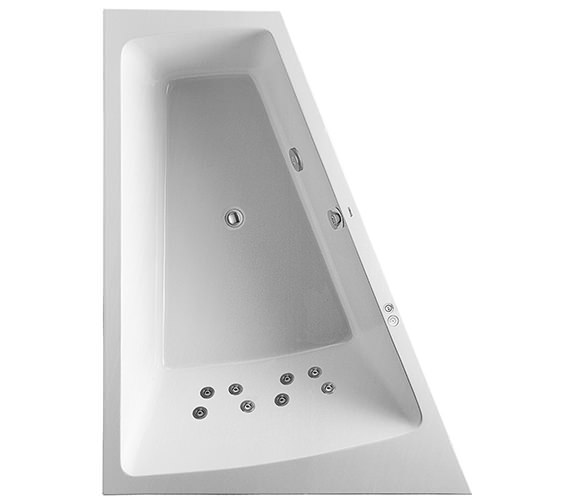Duravit Paiova 1800 x 1400mm Left Slope Bath With Frame And Jet System