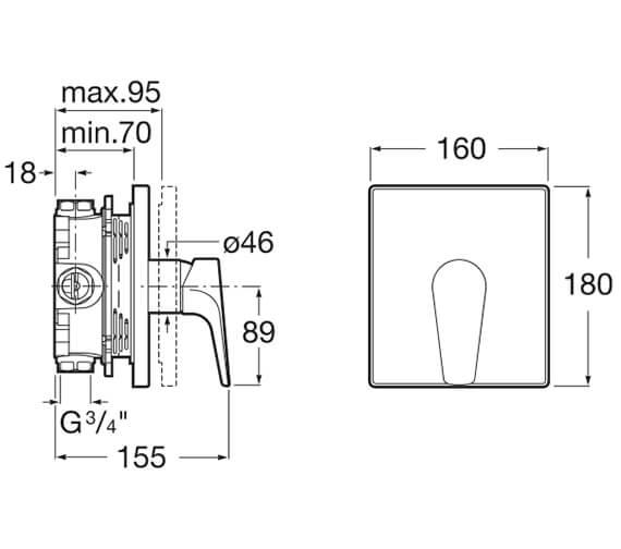 Technical drawing QS-V33588 / 5A2B90C00