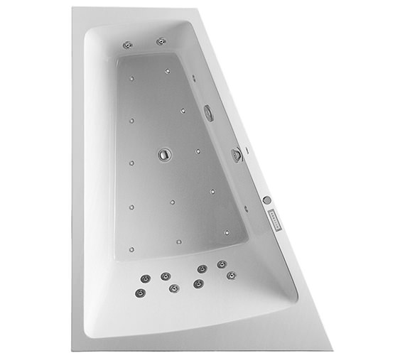 Duravit Paiova 1800 x 1400mm Built In Slope Bath With Combi System E - Left Or Right Hand