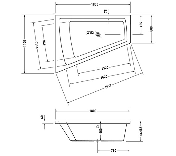 Technical drawing QS-V43763 / 760216000CE1000