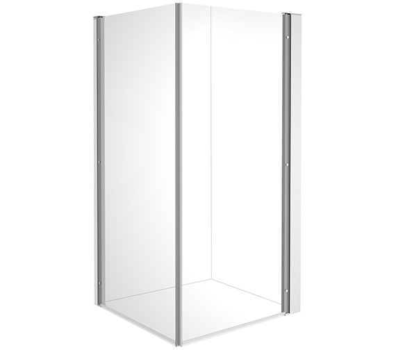 Duravit OpenSpace B 885 x 785mm Rectangle Shower Screen For Tap On Left Side