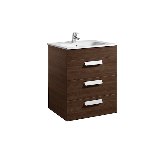 Roca Debba Standard 600mm Vanity Unit With 3 Drawers