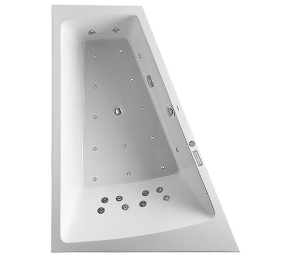 Duravit Paiova 1800 x 1400mm Left Slope Bath With Frame And Combi System E
