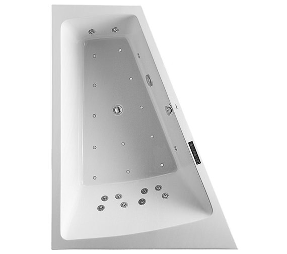 Duravit Paiova 1800 x 1400mm Left Slope Bath With Frame And Combi System L