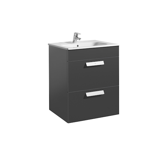 Additional image of Roca Debba Standard 2 Drawer Vanity Unit 600mm Multiple-Finish Available