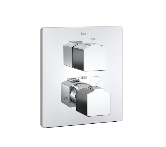 Roca L90 Built In Thermostatic Bath Or Shower Mixer Valve Without Diverter