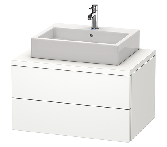 Duravit Delos 800 x 565mm White Matt Vanity Unit For Console