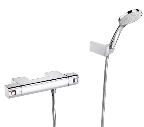 Roca L90 Wall-Mounted Thermostatic Shower Mixer With Handshower