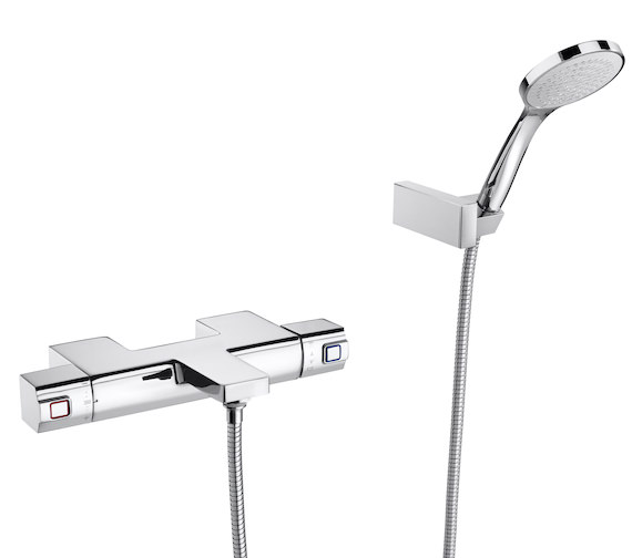 Roca L90 Wall Mounted Thermostatic Bath-Shower Mixer Tap With Kit