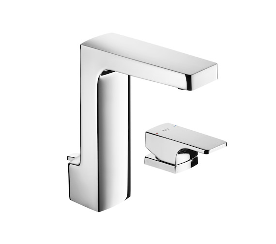 Roca L90 Deck Mounted Basin Mixer Tap With Pop-Up Waste