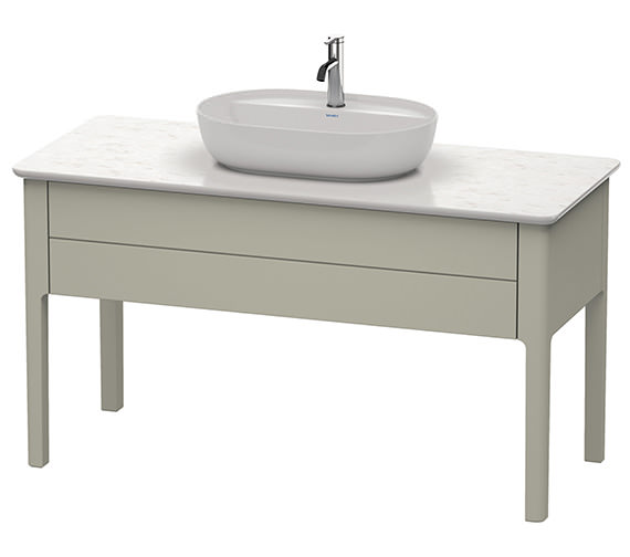 Additional image of Duravit Luv 1338 x 570mm White Satin Matt Floor Standing Vanity Unit