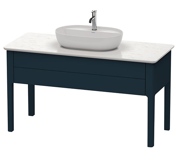 Alternate image of Duravit Luv 1338 x 570mm White Satin Matt Floor Standing Vanity Unit