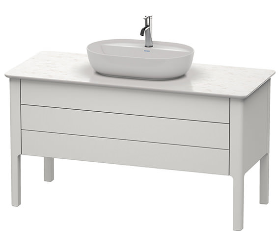 Duravit Luv 1338 x 570mm White Satin Matt 1 Drawer Vanity Unit