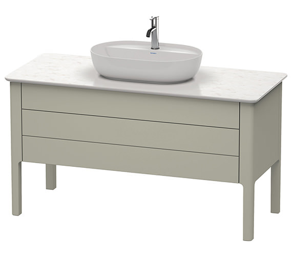 Additional image of Duravit Luv 1338 x 570mm White Satin Matt 1 Drawer Vanity Unit