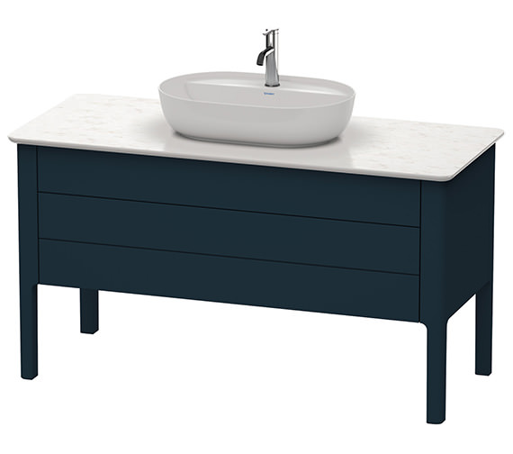 Alternate image of Duravit Luv 1338 x 570mm White Satin Matt 1 Drawer Vanity Unit