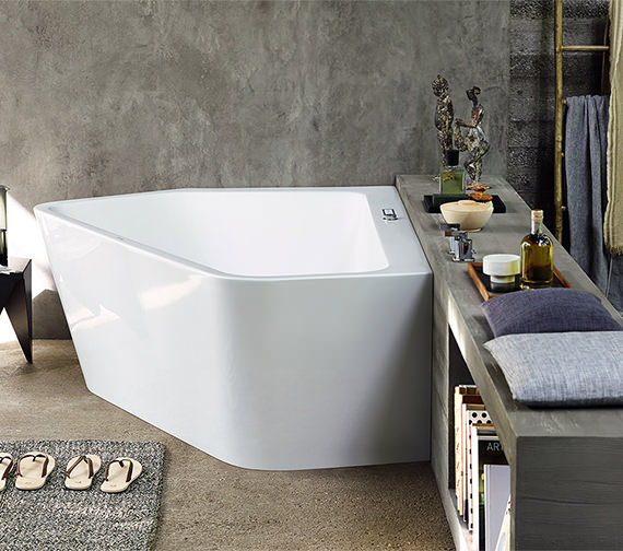 Alternate image of Duravit Paiova 1770 x 1300mm Right-Left 5 Corner Built In Bath With Frame
