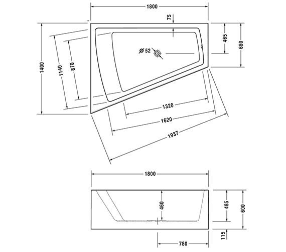 Technical drawing QS-V45815 / 760268000CL1000