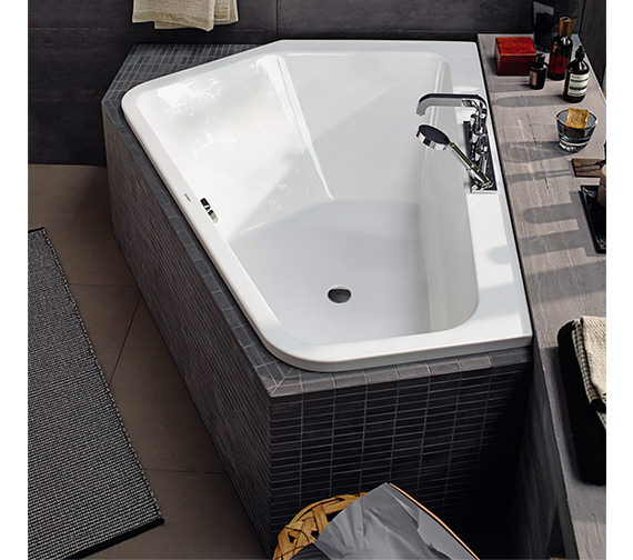 Alternate image of Duravit Paiova 1900 x 1400mm Right-Left 5 Corner Built In Bath With Frame