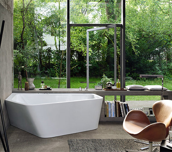 Duravit Paiova 1900 x 1400mm Right-Left 5 Corner Built In Bath With Frame