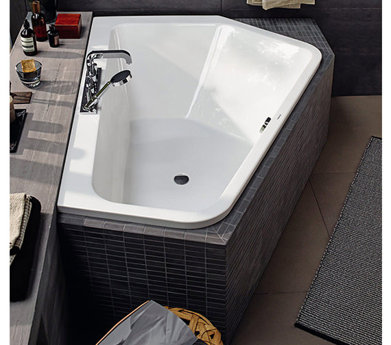 Additional image of Duravit Paiova 1900 x 1400mm Right-Left 5 Corner Built In Bath With Frame