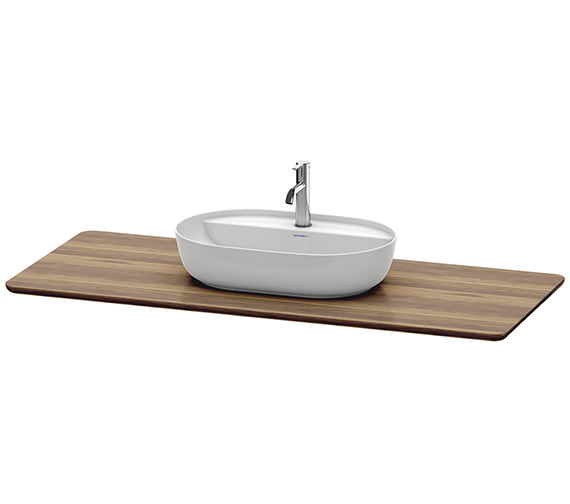 Duravit Luv 1388 x 595mm 1 Cut-Out Real Wood Massive Console