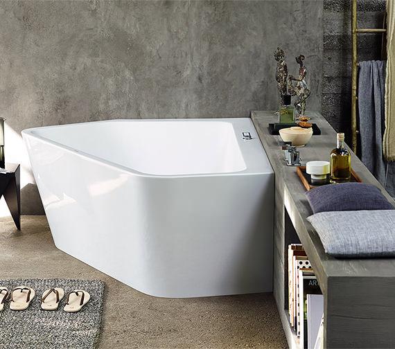 Alternate image of Duravit Paiova 1770 x 1300mm Right-Left 5 Corner Bath With Panel