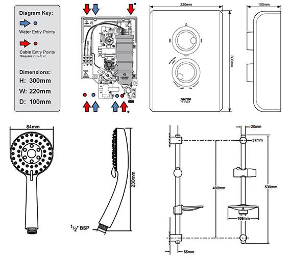 Technical drawing QS-V40022 / SP7008Z