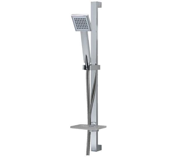 Triton Callum Riser Rail Kit And Kate Shower Head - Contemporary Design