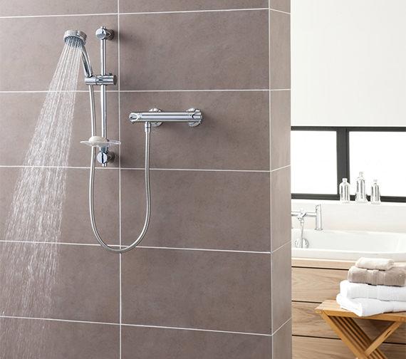 Triton Dene Eco Bar Mixer Shower Set With Thermostatic Control - ECODETHBM