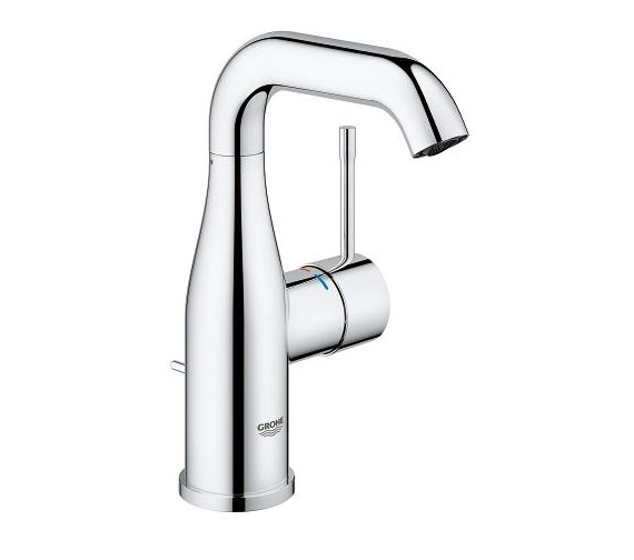 Grohe Essence New M Size Basin Mixer Tap With Pop Up Waste