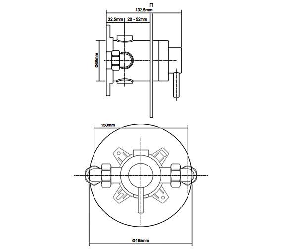 Additional image of Triton Elina Single Lever TMV3 Concealed-Exposed Mixer Shower