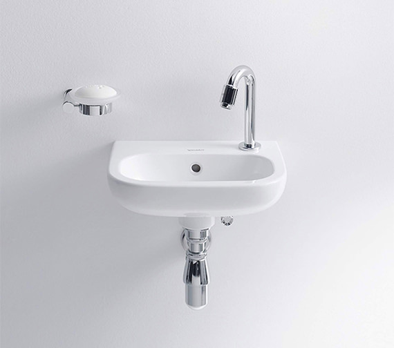 Duravit D-Code 360mm Handrise Basin Without Tap Hole - 7053600002
