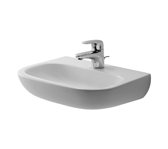 Duravit D-Code 450mm Handrise Basin Med Without Tap Hole And Overflow