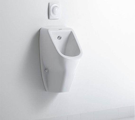 Duravit D-Code 305 x 290mm HygieneGlaze Rimless Urinal With Concealed Inlet