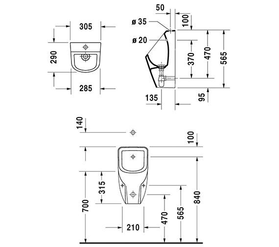 Technical drawing QS-V42330 / 0828302000