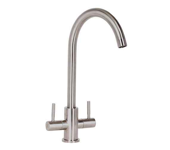 Mayfair Tempo Double Lever Stainless Steel Kitchen Mixer Tap