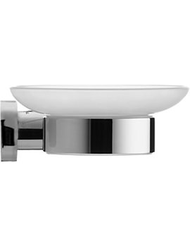 Duravit D-Code Soap Dish With Glass Shelf On Left Side