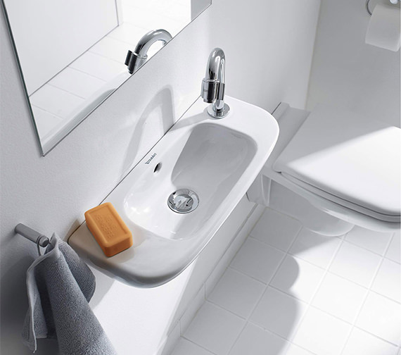 Duravit D-Code 500mm Handrise Basin Without Tap Hole