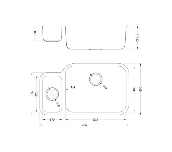 Technical drawing QS-V11000 / ED/7845/U/MS BBR/101