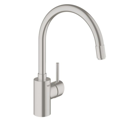 Grohe Concetto Single Lever Monobloc Sink Mixer Tap Supersteel