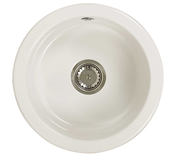 Astracast Lincoln R1 460mm Round Bowl Ceramic Inset Or Undermount Sink